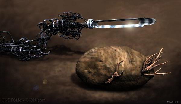 Alien Potato Peeler by Meats Meier