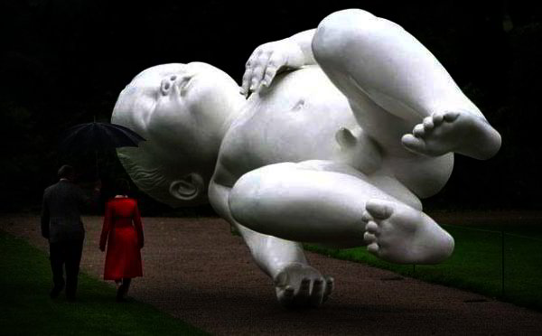 Sculpture of a baby by Marc Quinn