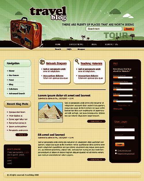 Drupal Theme for Travel Blog # 88