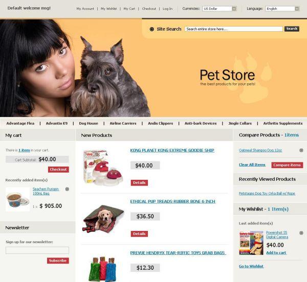 Magento -Pet store theme