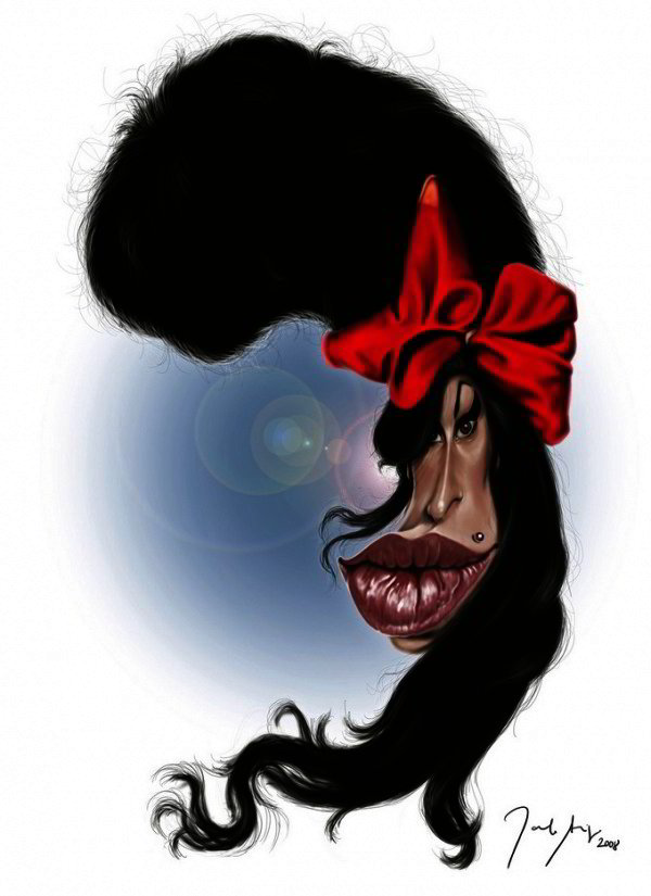 Caricature of Amy Winehouse