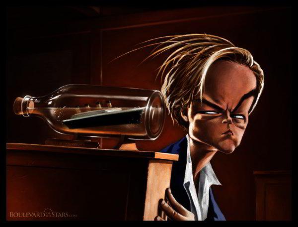 Famous caricatures: Leonardo DiCaprio