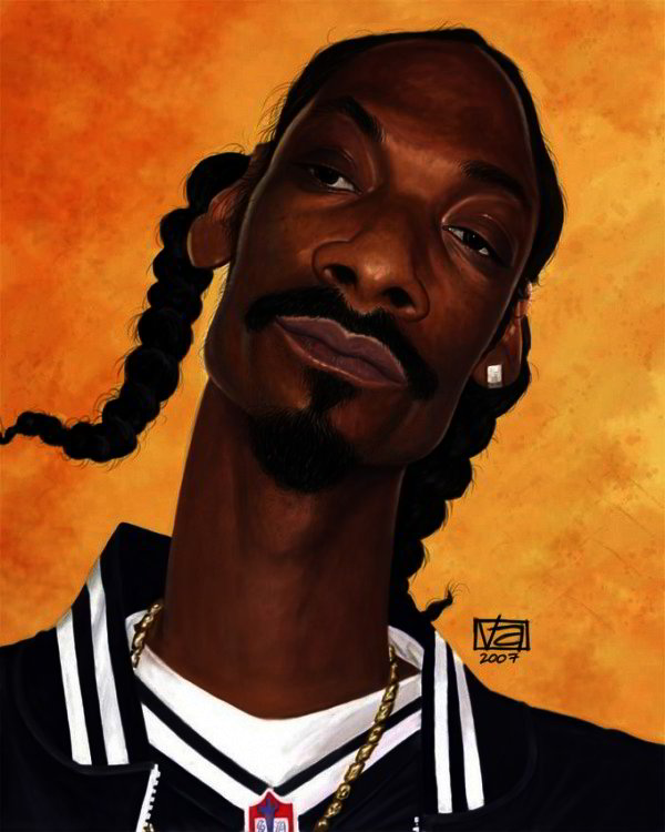 Famous Caricatures: Snoop Dogg