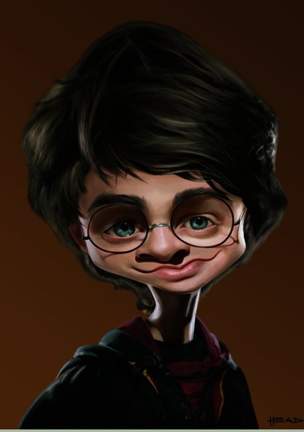 Caricature of Harry Potter