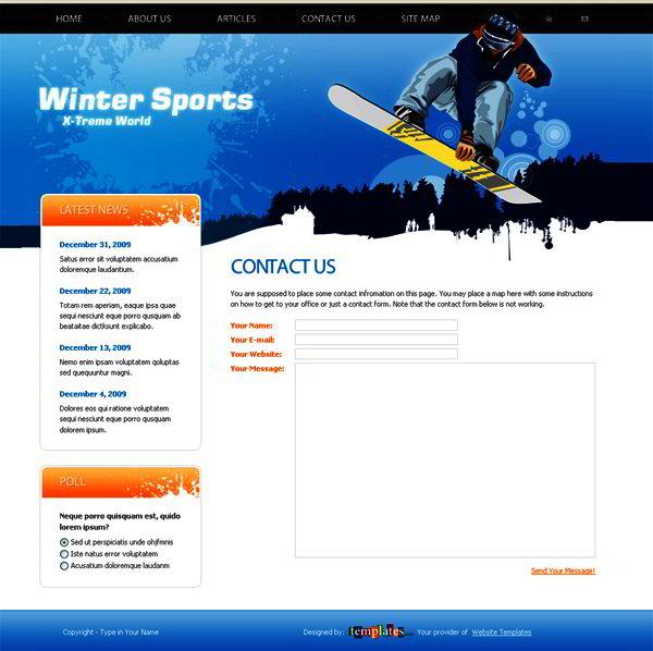 Free Website Template1
