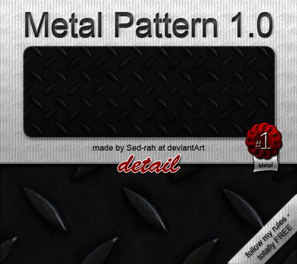Free Photoshop Metal Patterns