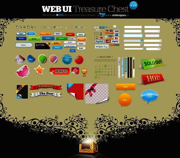 Free PSD UI Elements