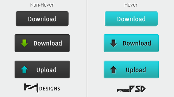 Free Download Buttons PSD UI Elements