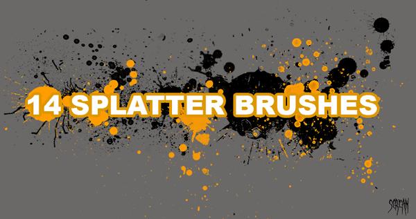 Free Splatter Brushes