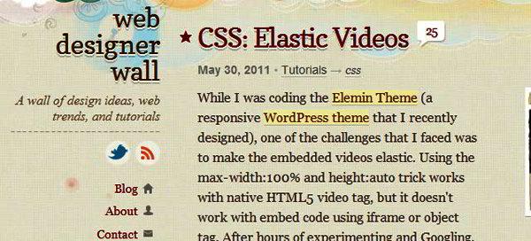 CSS: Elastic Videos