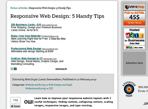 Responsive Web Design: 5 Handy Tips