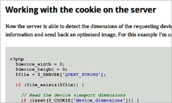 Responsive Images Using Cookies