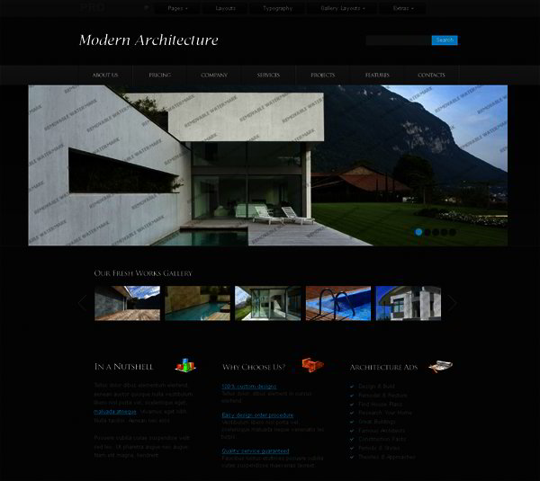 Creative jQuery Slider Effects in Website Template Designs   Templates Dq3B3GgG