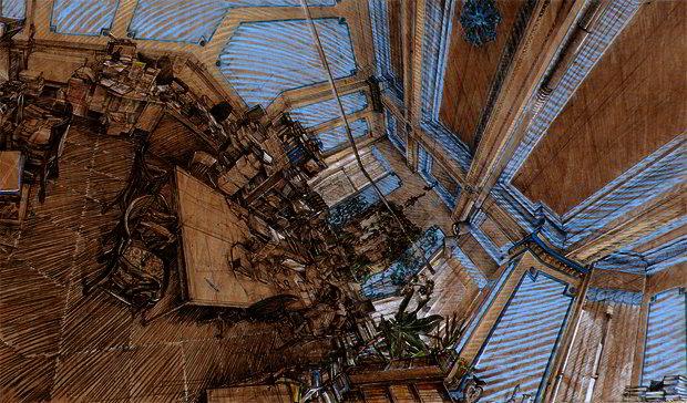 polyhedral panoramic drawings