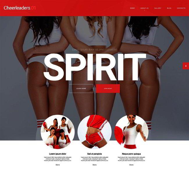 Energetic Cheerleaders WordPress Theme