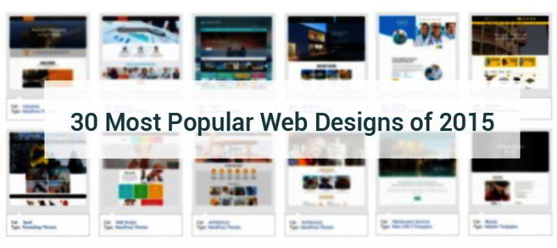 most popular web templates