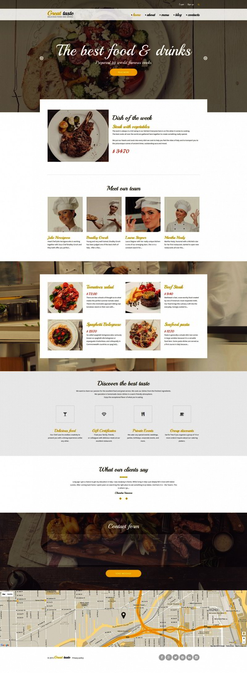Website soft colors - This Responsive Drupal Template Has A Potential To Become A Truly Successful Restaurant Online Presence The Soft Color Palette And Focus On The Images