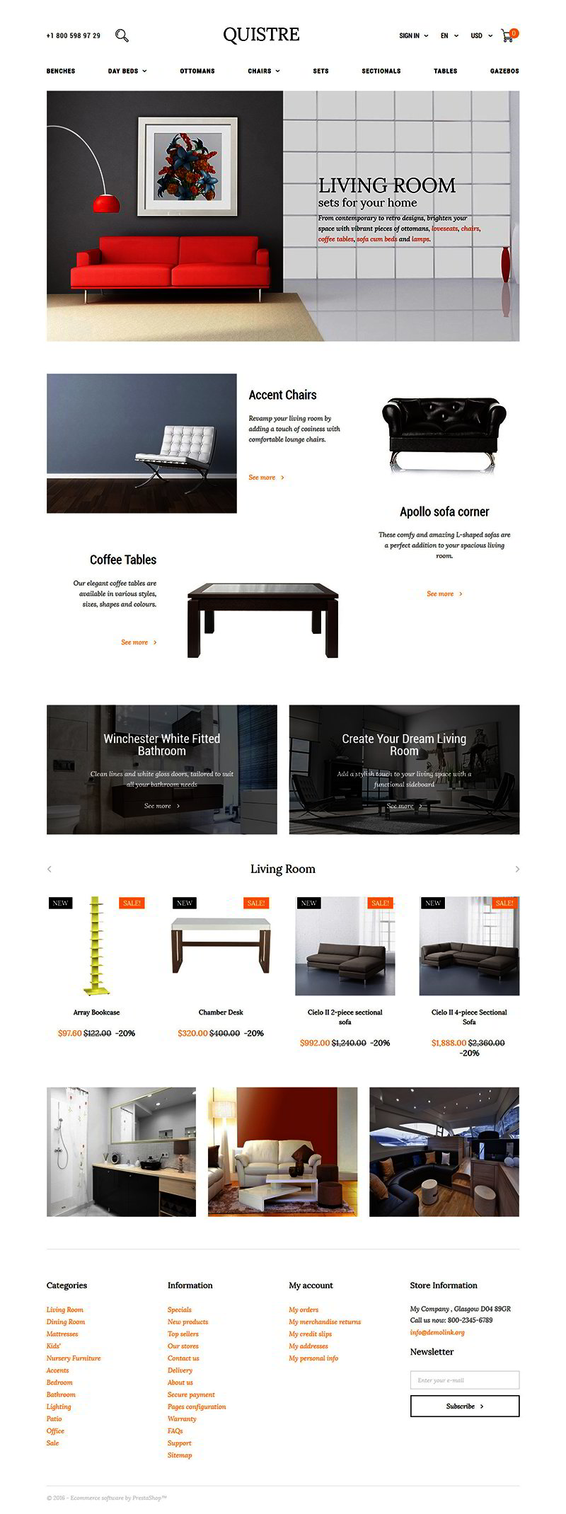 Interior PrestaShop Template