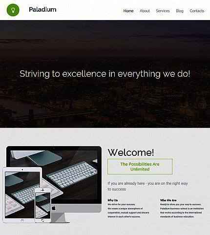 Build a Website for Business Company | Responsive Moto CMS 3 Template