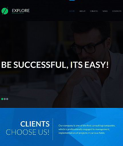 Corporate Website Maker | Responsive Moto CMS 3 Template