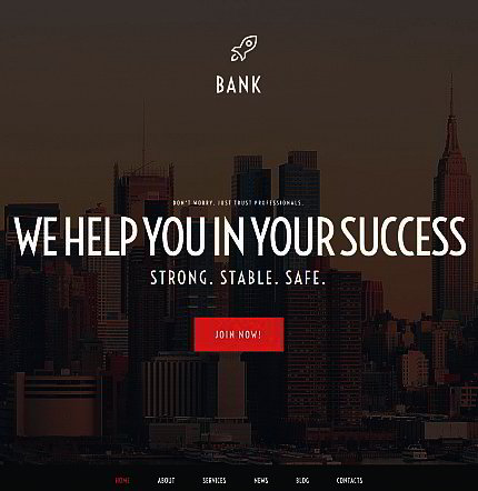 Bank Website Builder | Responsive Moto CMS 3 Template
