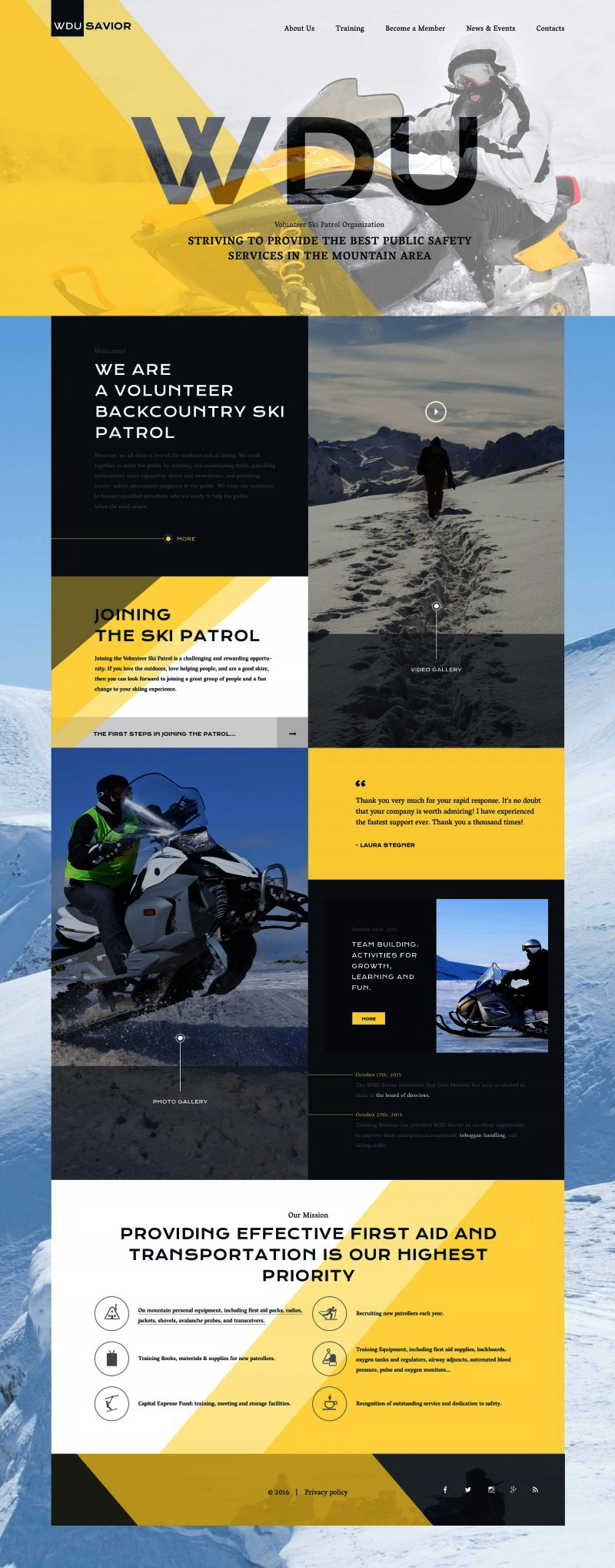 Ski Resort Website Template