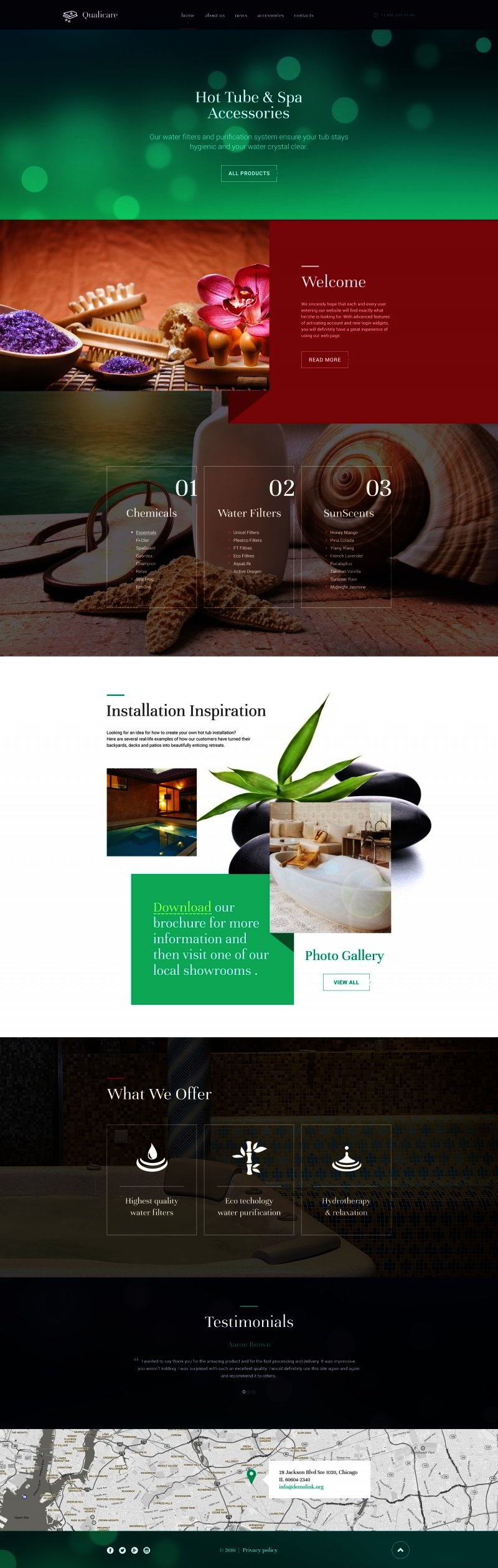 Spa Accessories Website Template