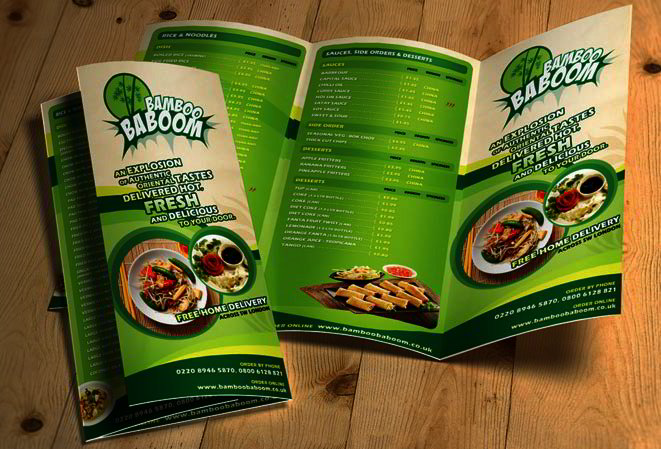 Best Free PSD Brochure Templates For Download In Templates - Menu brochure template free