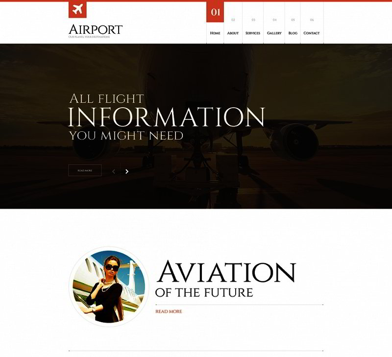 Private Airline Responsive WordPress Theme