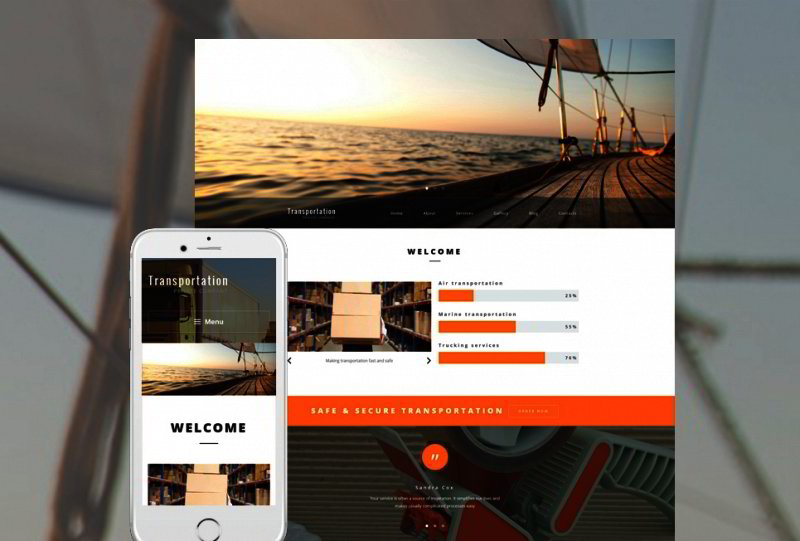 Transportation WordPress Template
