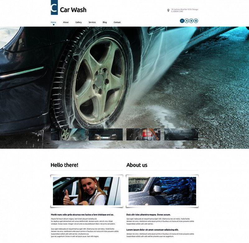 Car Wash WordPress Template