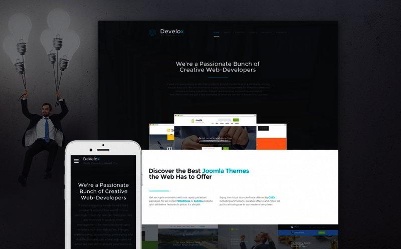 Web Design Company Website Template