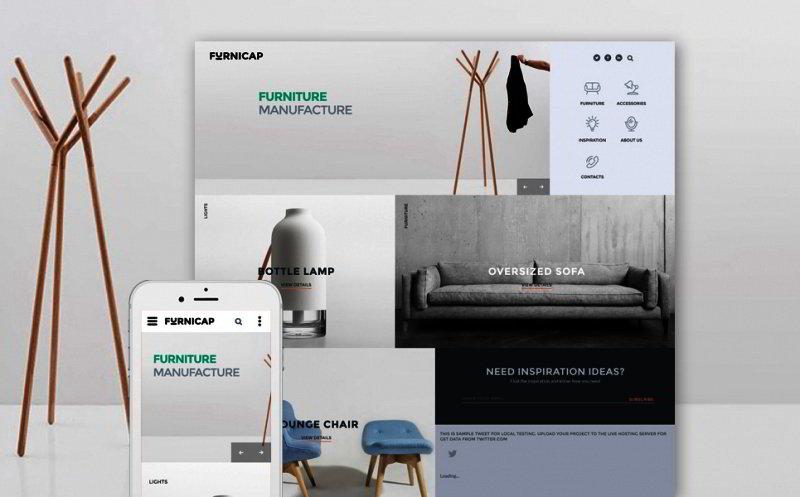modern furniture web template