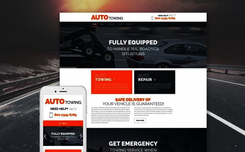 Tow Truck Service WordPress Theme