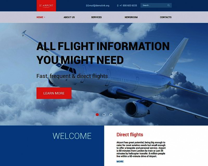 Airfares WordPress Template