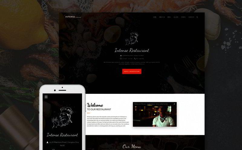 European Restaurant Web Template