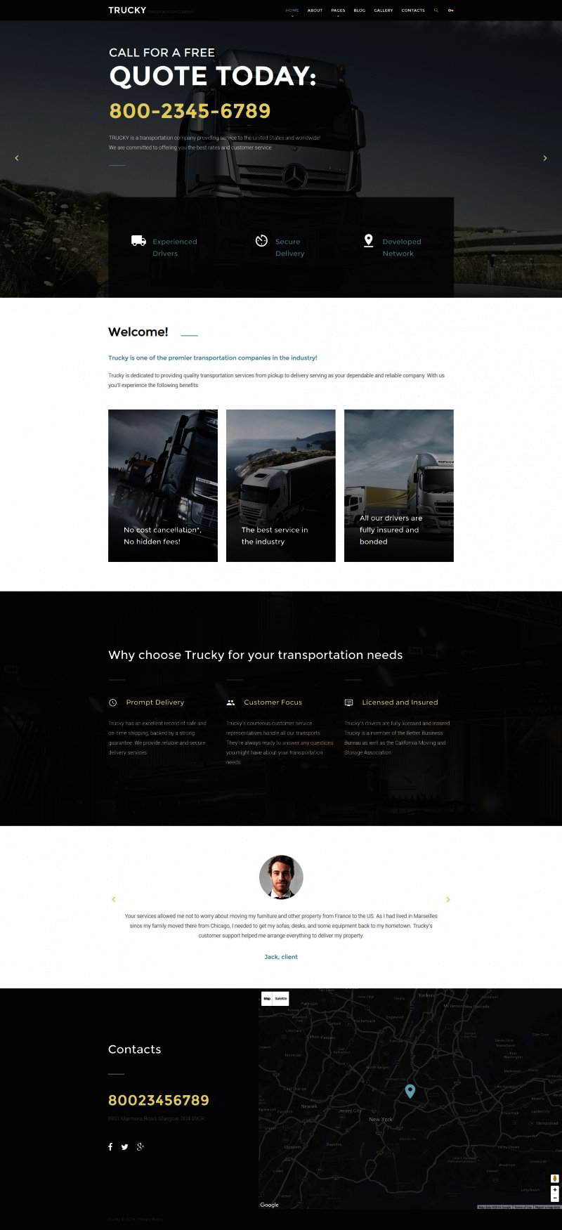 Transportation Company Joomla Theme
