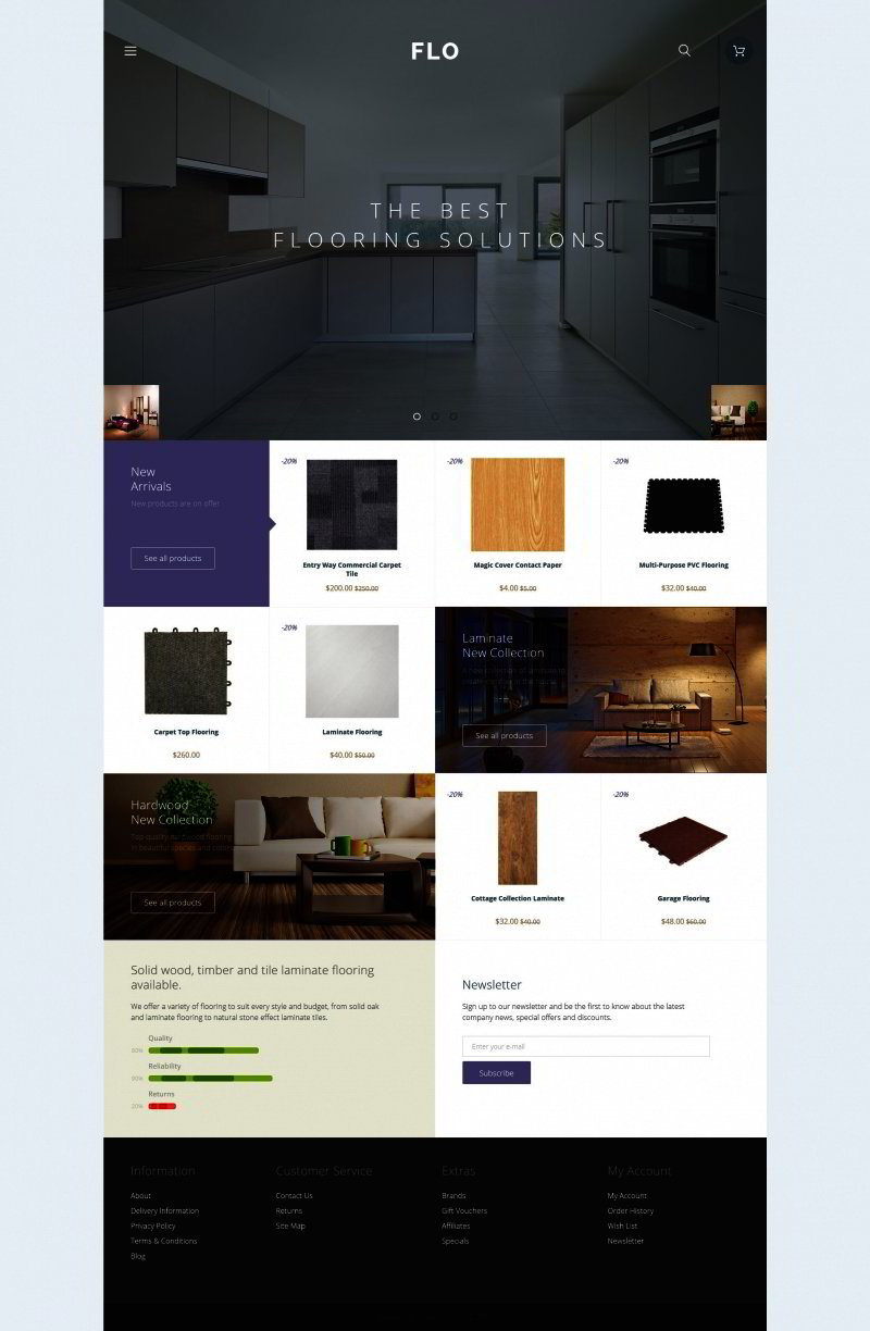 Flooring Materials OpenCart Template