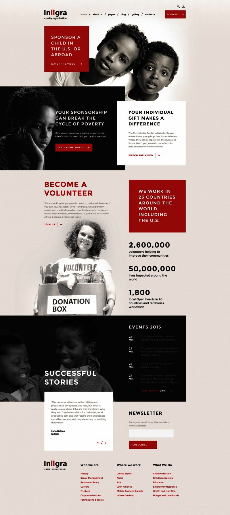 Charity Events Joomla Theme