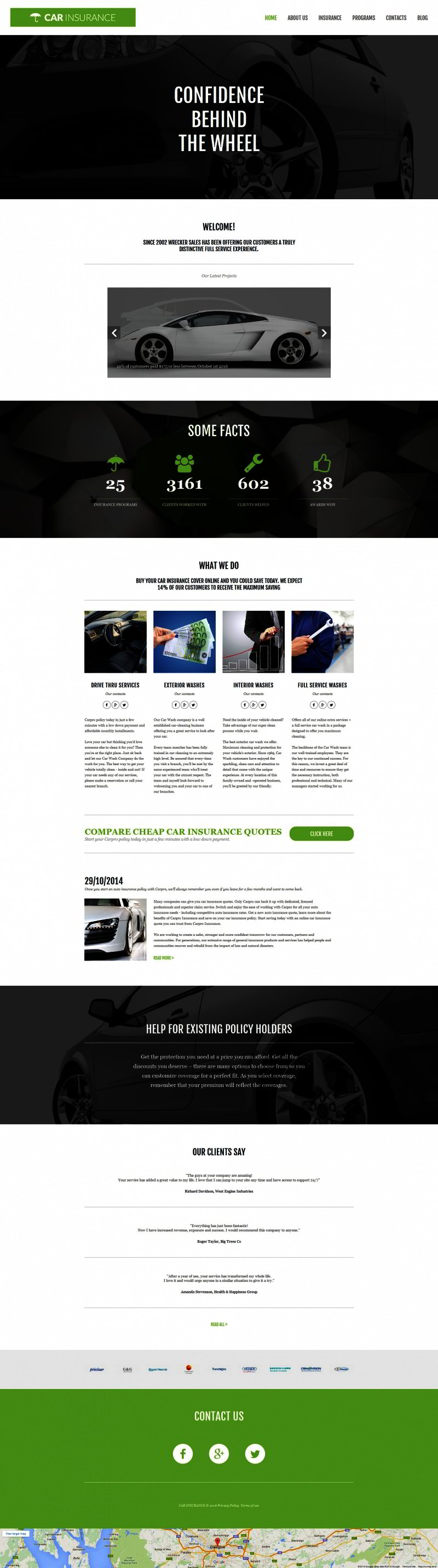 Car Insurance Responsive Moto CMS 3 Template