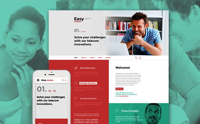 Communications Responsive Website Template