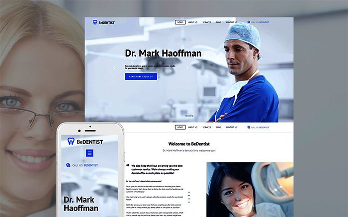 Dentistry Responsive Moto CMS 3 Template
