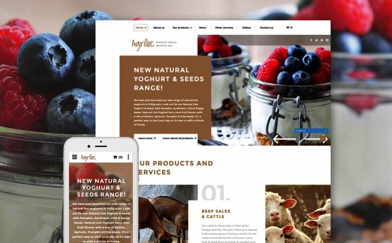 Agriculture Site Template