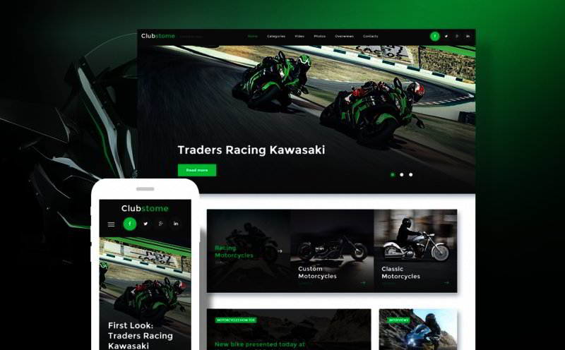 Bikers WordPress Theme