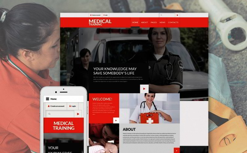 Medical Training Joomla Template