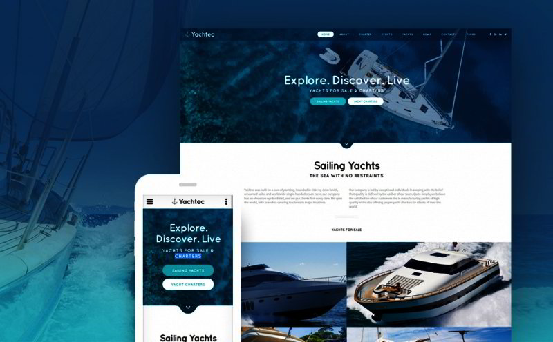 Yachting Website Template