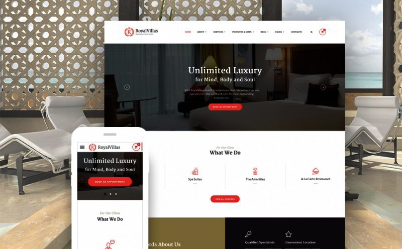 Resort Hotel Bootstrap Website Template