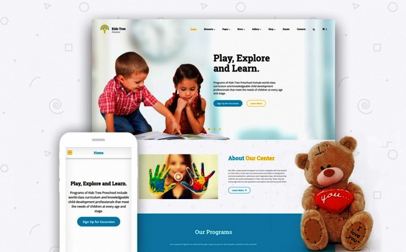 Children Education Website Template