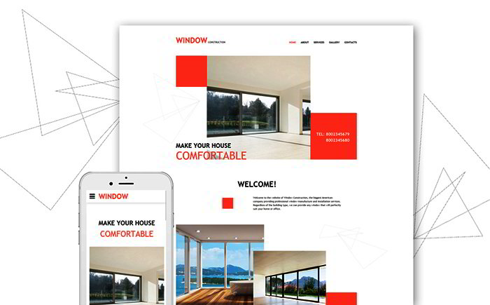 Windows & Doors Responsive Website Template