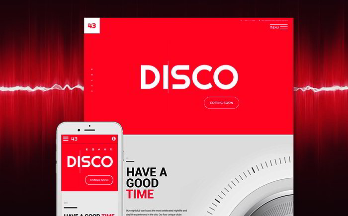 Night Club Responsive Site Template